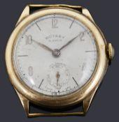 A 9ct gold Rotary mechanical watch head