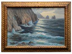L. Salvia (Italian, 20th Century) 'An Italian coastal scene', oil on canvas