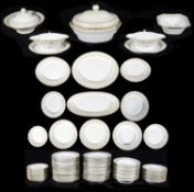An extensive KPM dinner service decorated in the 'Kurland' style