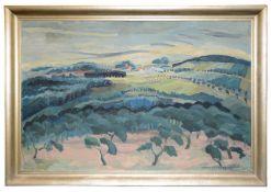 Marei Wetzel-Schubert (Polish, 1890-1983) 'Landscape with trees', oil on canvas