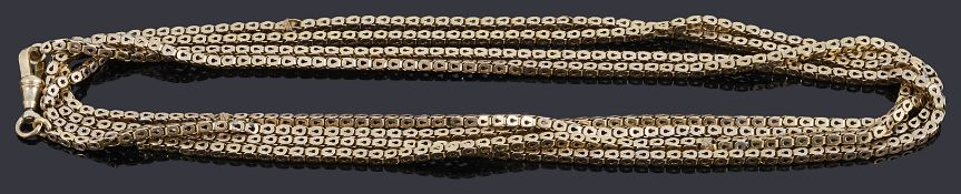 A gold fancy link guard chain with swivel clasp