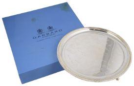 A contemporary silver presentation salver
