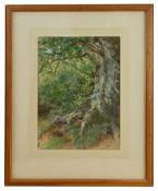 Winston Churchill Interest: Herbert Arthur Bone (Brit. 1853-1931)'The Mile Oak, Dorking' watercolour