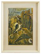 Frederick Austin (British 1902-1990) linocut on paper; one other