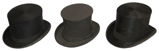 Three assorted Victorian and later top hats