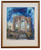 Neil Pittaway A.R.E (British 1973) 'Assyrian Arch' watercolour and pen