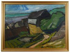 Continental School, early 20th century 'Coastal landscape', oil on canvas