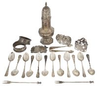 A mixed lot of silver and silver plated items