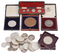 A collection of mostly 19th century and later British and foreign silver and other coins