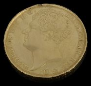 A George IV double sovereign, dated 1823