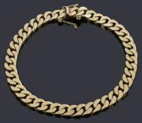 An Italian 9ct gold curb link bracelet
