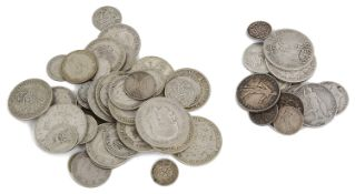 Small selection of mosltly British pre and post 1920 silver coins