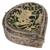 A 19th century Indian Parthabgar silver gilt box