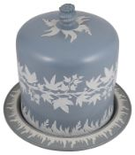 A 19th Century Dudson stoneware cheese dome and stand