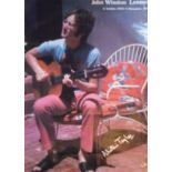 John Lennon poster featuring a photograph of Lennon taken on holiday at Magic Alexis Villa by