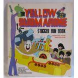 An original 1968 Beatles Yellow Submarine sticker fun book from World Distributors (Manchester) Ltd.