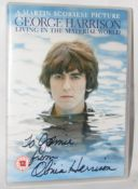 George Harrison Living In The Material World DVD signed by Olivia Harrison