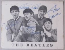 The Beatles Fan Club card with an original 60s set of fake signatures
