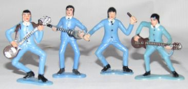 The Beatles style 1960s figures (4)