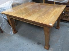 20th century oak extending dining table, with one leaf, Approx dimensions (without leaf) 71cm H X