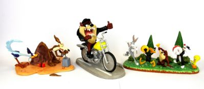 Three Coalport and Wedgwood Looney Tune figures, one limited edition with certificate, all with