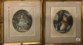 A pair of gilt framed pencil signed lithographs by James Northcote (British 1746-1831). Reprinted in