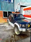 A 1993 Mitsubishi Pajero jeep 2400cc diesel.First registered in the UK 2004. Approx 160,000 miles.