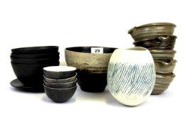 A quantity of European ceramic bowls, largest Dia. 20cm.