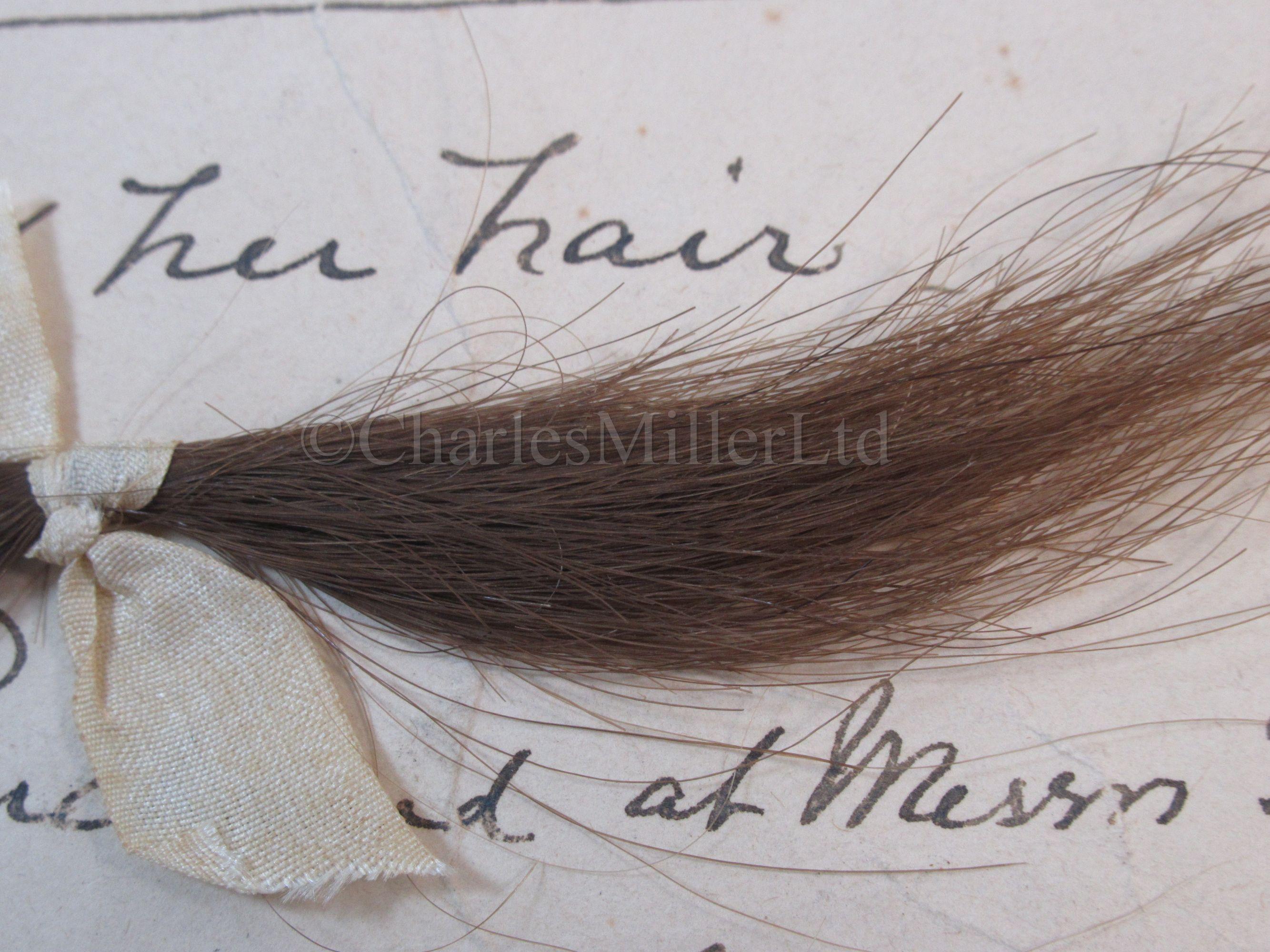 Lot 70 - A LOCK OF LADY EMMA HAMILTON'S HAIR