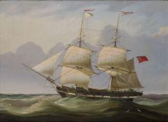 ATTRIBUTED TO JOHN LYNN (BRITISH, ACT. 1826-1869) : The Merchant Brig 'Madonna'