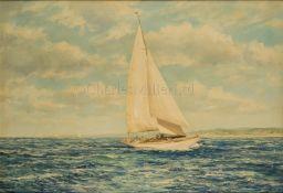 M.G. FREIDRICH (GERMAN, 19TH/20TH CENTURY): Racing off Cape Cod
