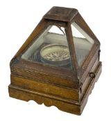 A DRY CARD BINNACLE COMPASS CIRCA 1860