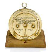 A NEGRETTI & ZAMBRA 1915 PATENT WEATHER FORECASTER