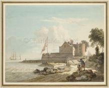 WILLIAM OWEN (BRITISH, 1769-1825) : Cowes Castle