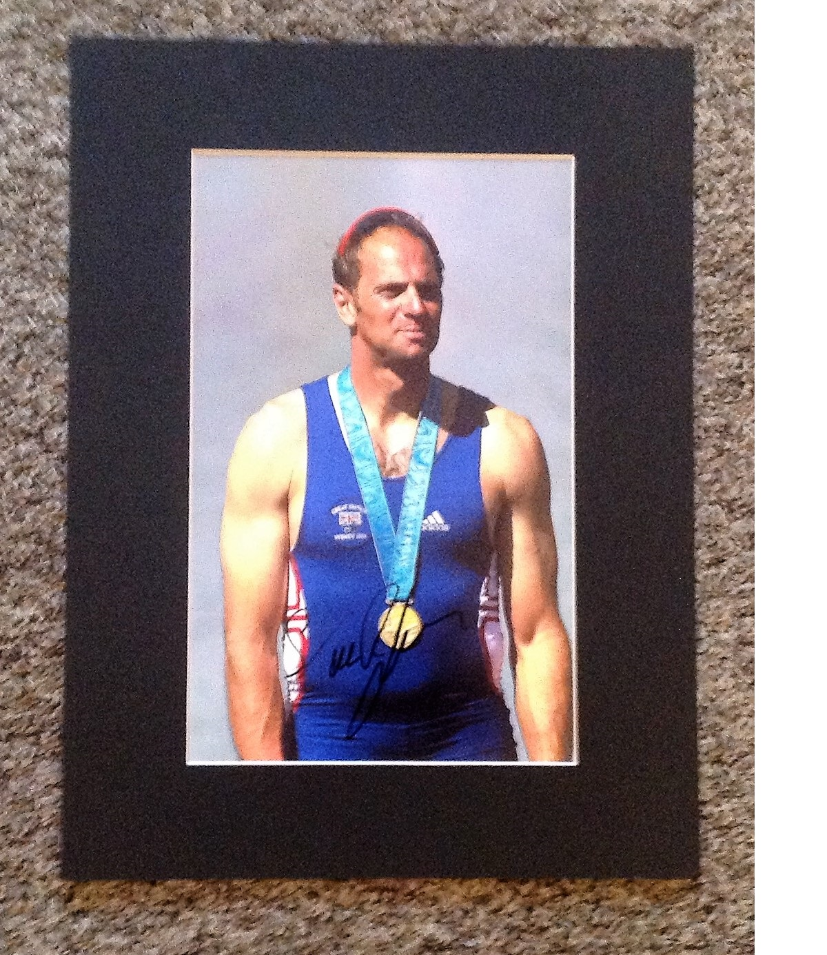 Lot 746 - Olympics Steve Redgrave signed 16 x 12 inch mounted colour photo. Sir Steven Geoffrey Redgrave CBE