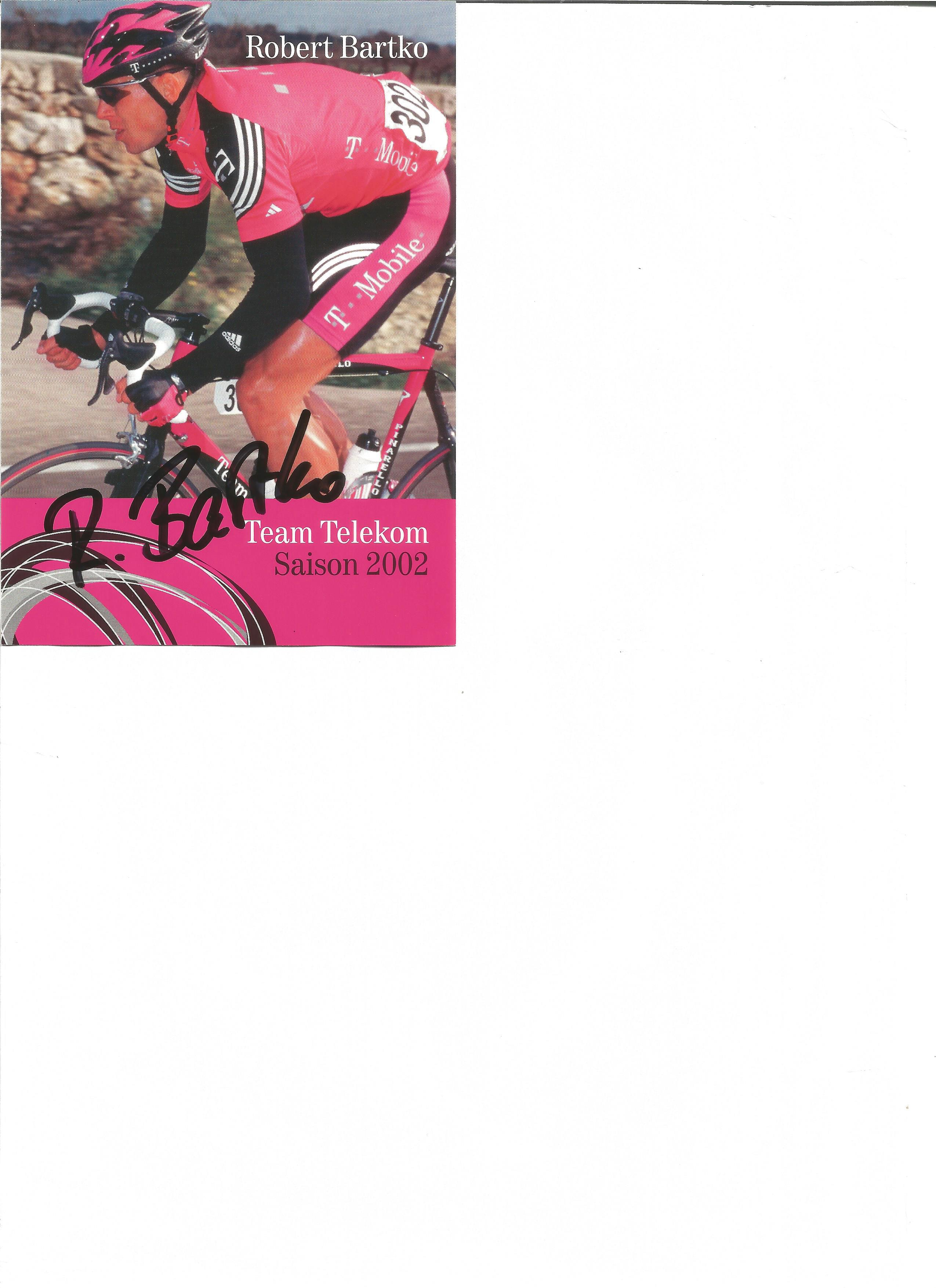 Lot 143 - Cycling Robert Bartko signed 6 x 4 inch promo photo. Robert Bartko born 23 December 1975 in