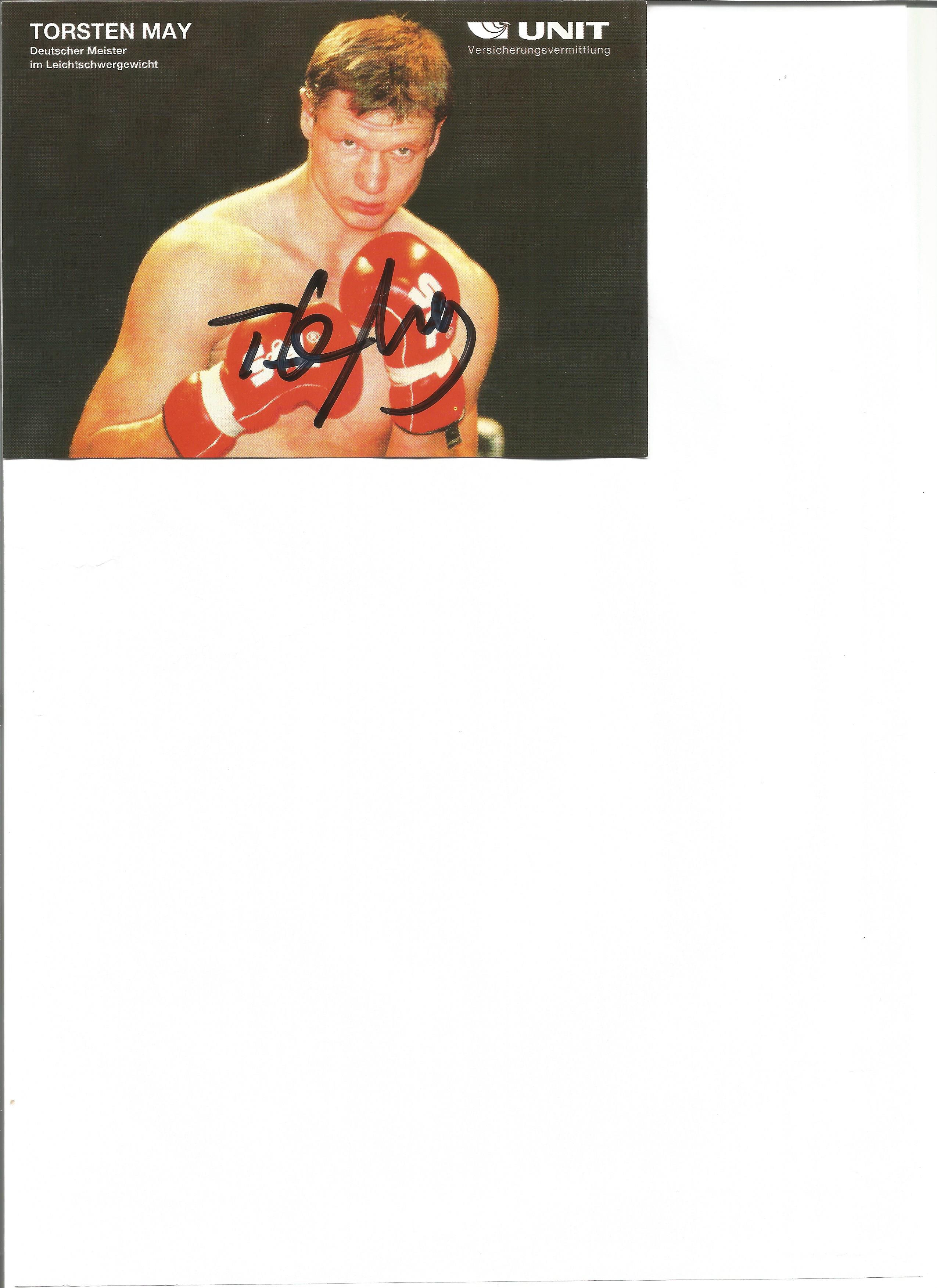Lot 192 - Boxing Torsten May signed 6 x 4 inch colour photo. Torsten May born October 9, 1969 in Glauchau,