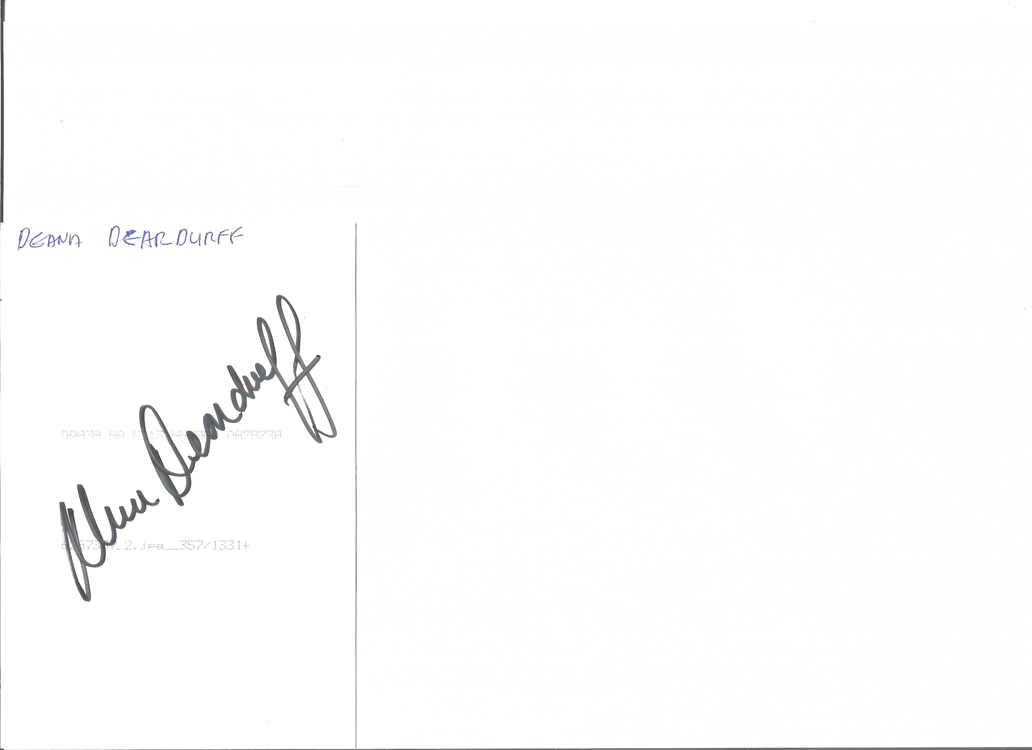 Lot 655 - Olympics Deana Deardurff signed 6 x 4 inch colour photo of the Olympic gold medallist in the