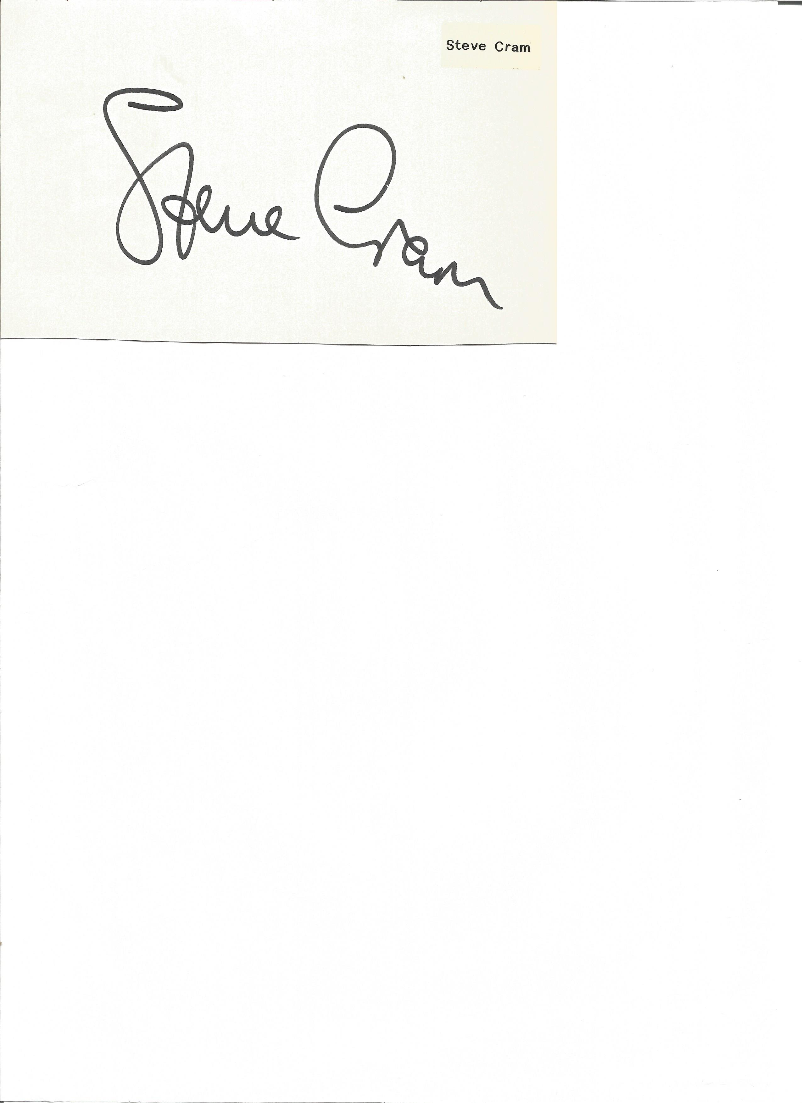Lot 167 - Athletics Steve Cram signed 6 x 4 inch white card. Stephen Cram CBE born 14 October 1960 is a