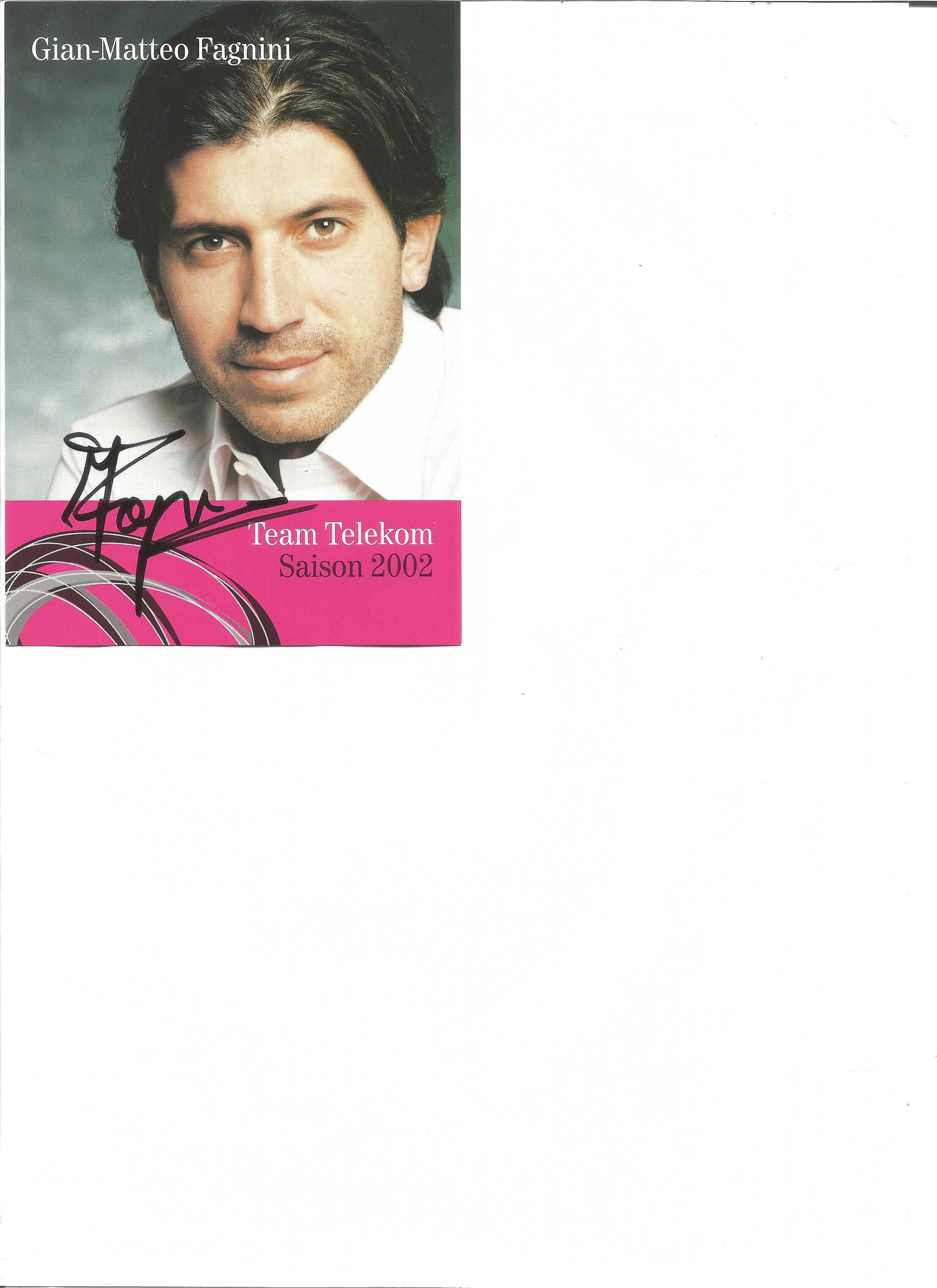 Lot 144 - Cycling Gian Matteo Fanini 6 x 4 inch promo photo. Gian Matteo Fanini is a former Italian