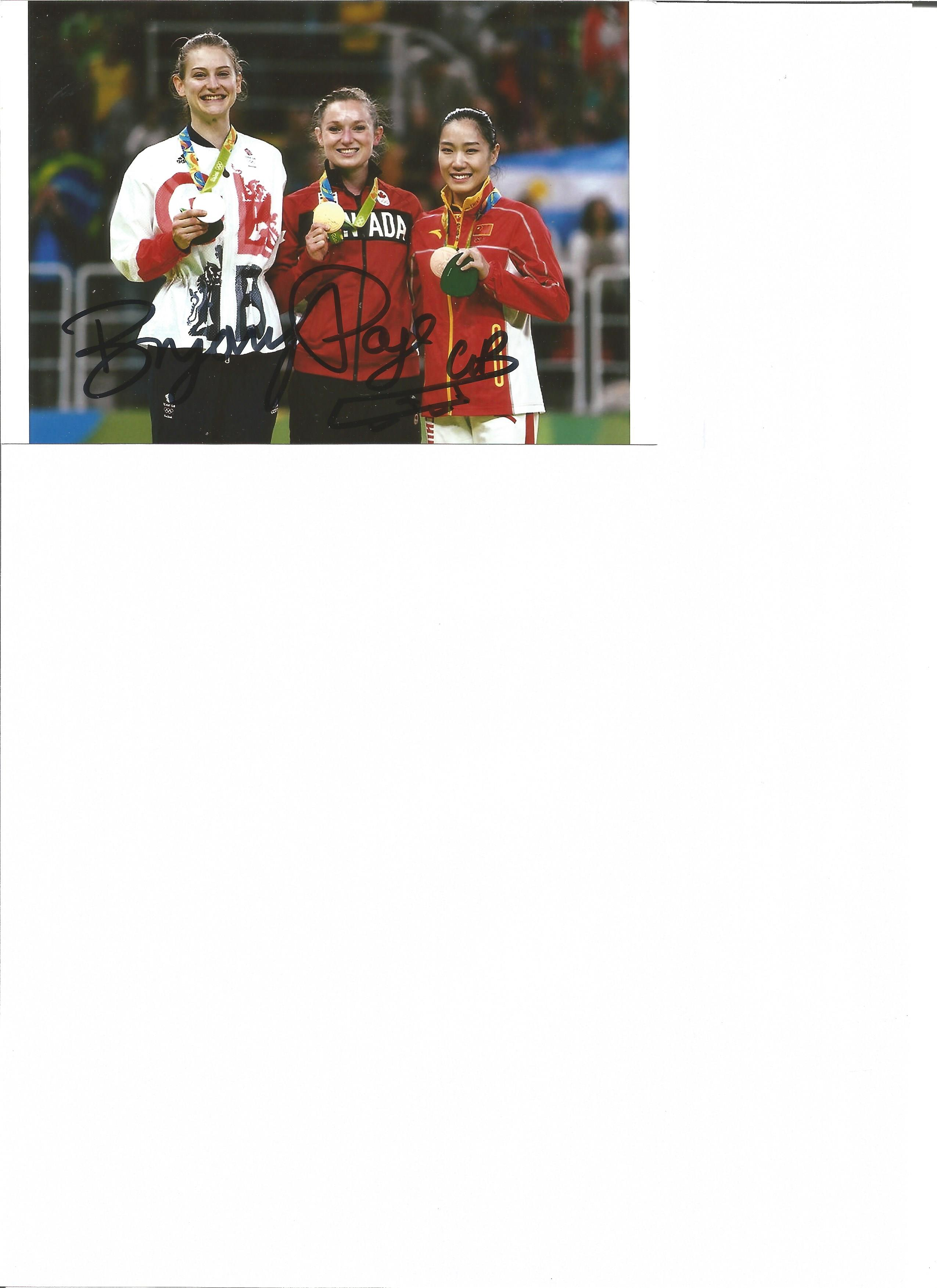 Lot 653 - Olympics Byrony Page 6 x 4 inch signed colour photo of the Olympic silver medallist for Great