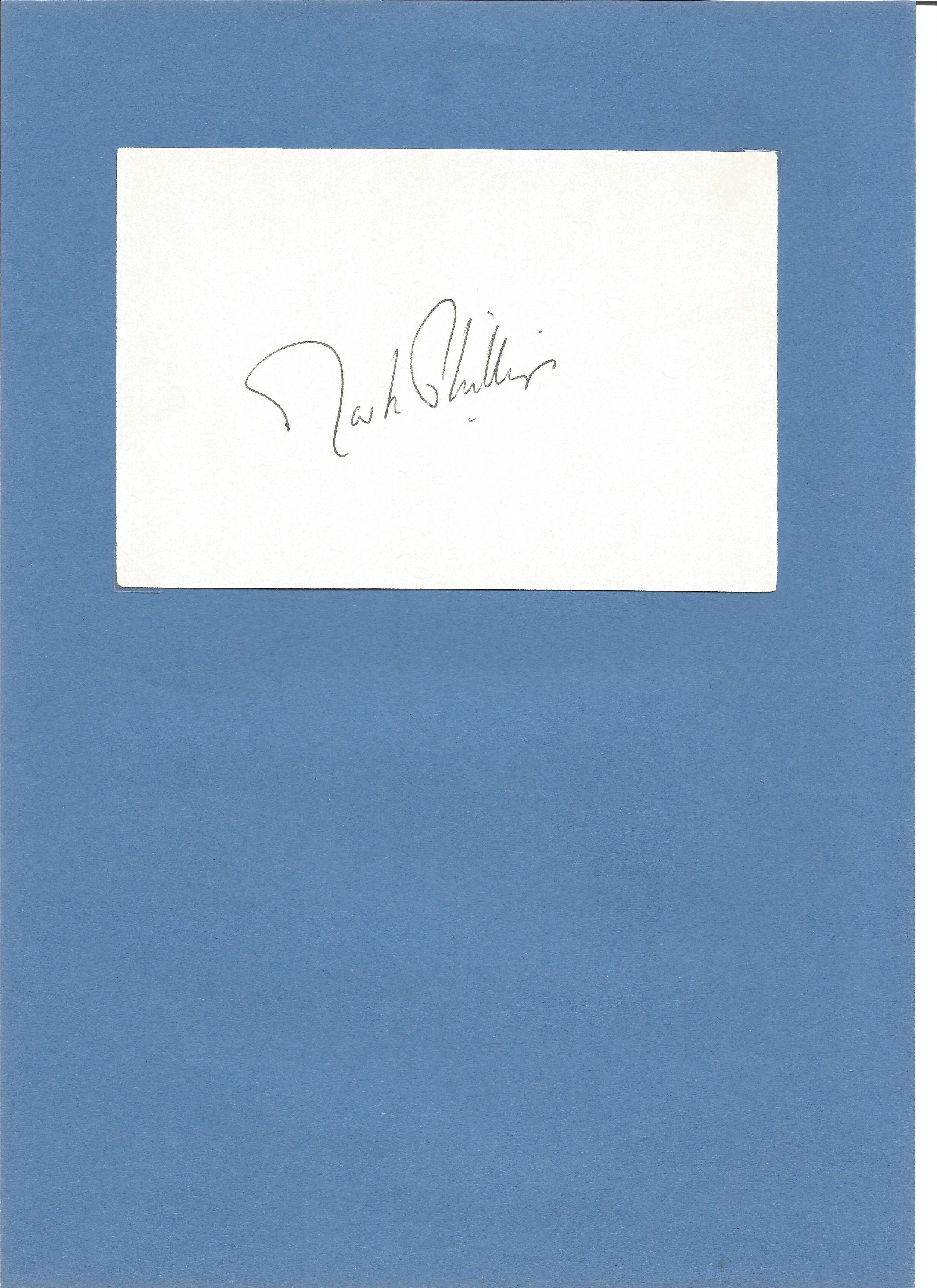 Lot 245 - Equestrian Captain Mark Phillips signed white card fixed to A4 card with corner tabs. Captain Mark
