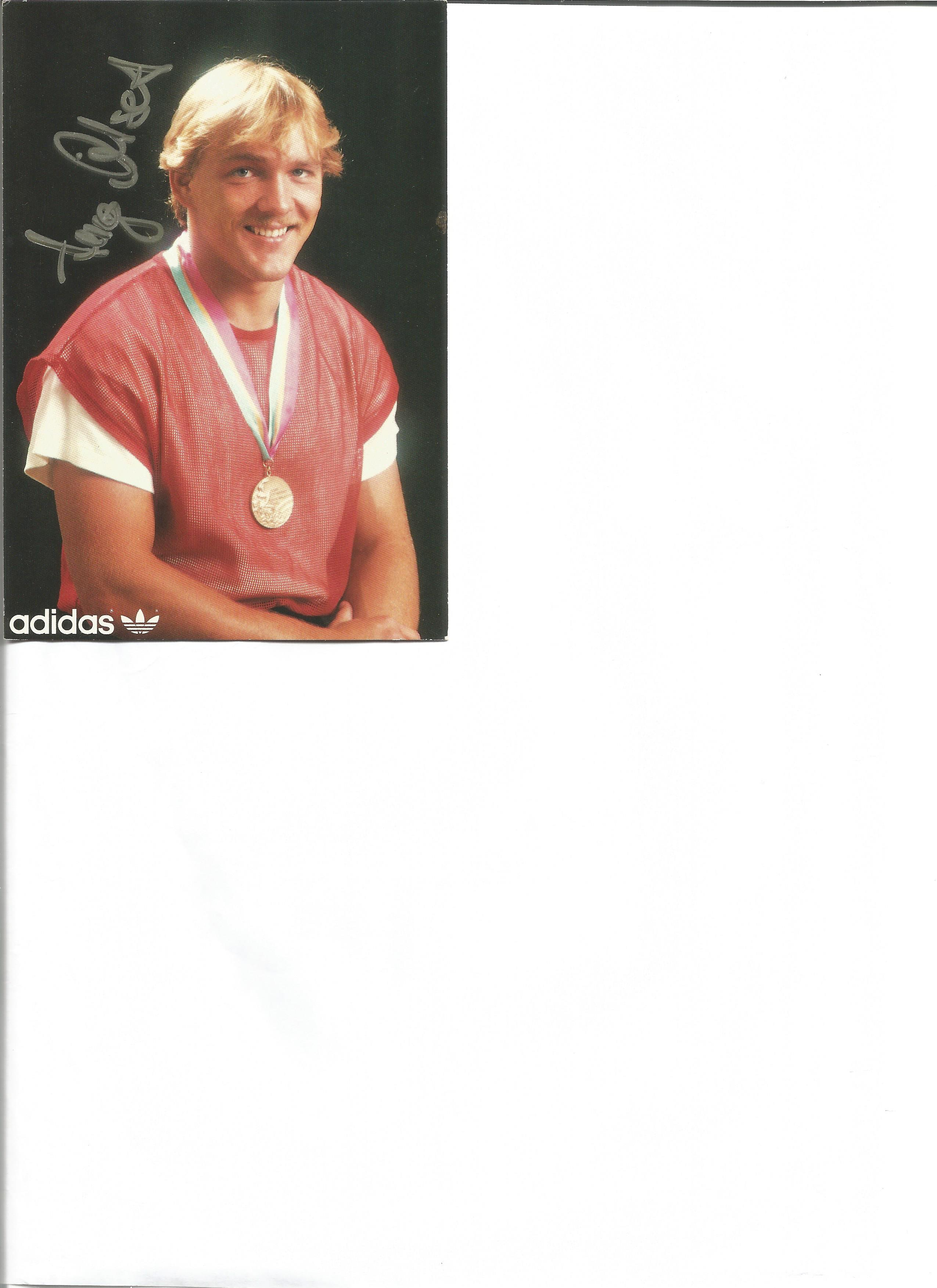 Lot 176 - Olympics Hugo Dietsche signed 6 x 4 inch colour adidas promo card. Hugo Dietsche born 31 March
