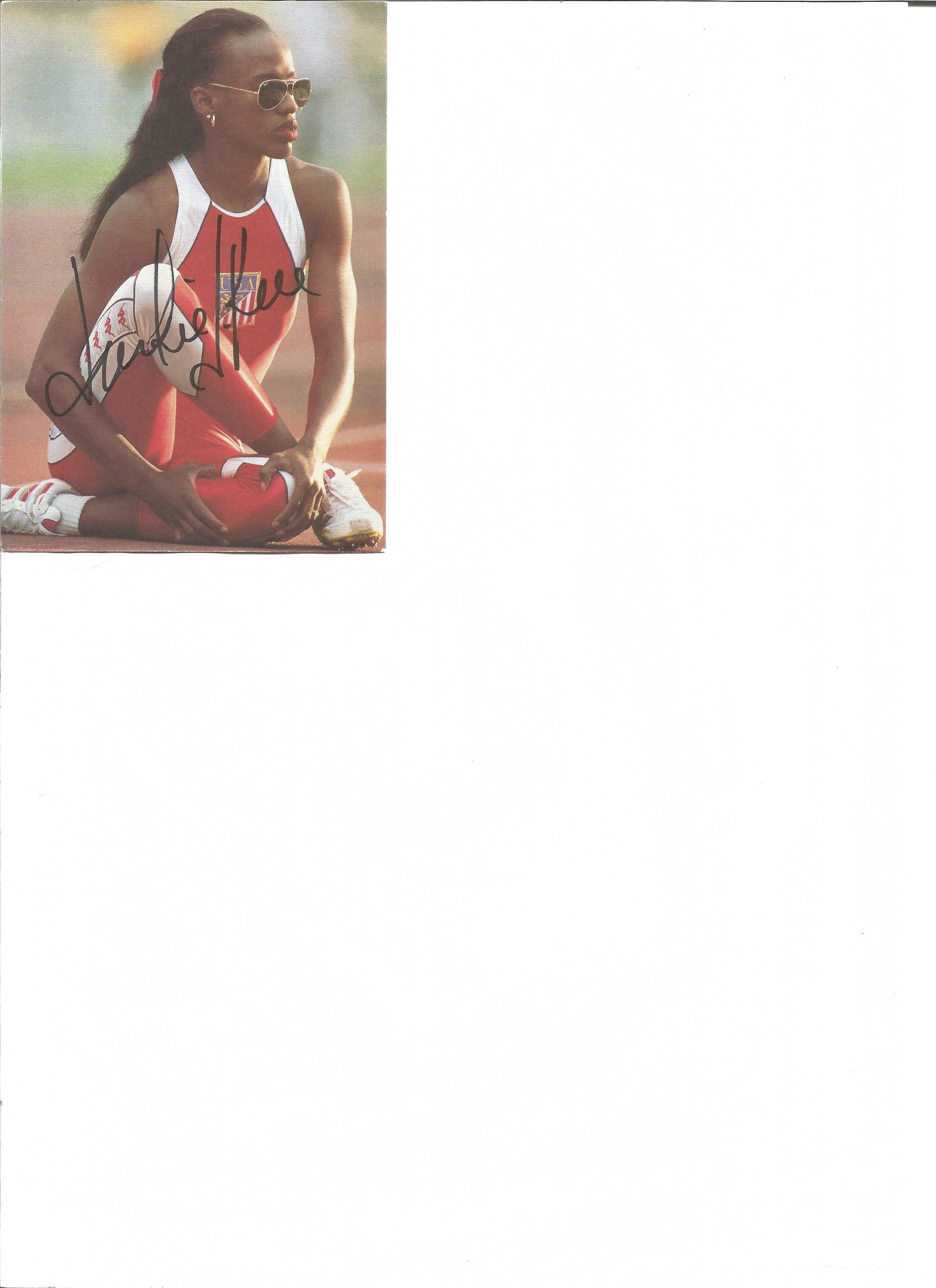 Lot 161 - Athletics Jackie Joyner-Kersee 5x4 signed colour photo. Jacqueline Joyner-Kersee born March 3,