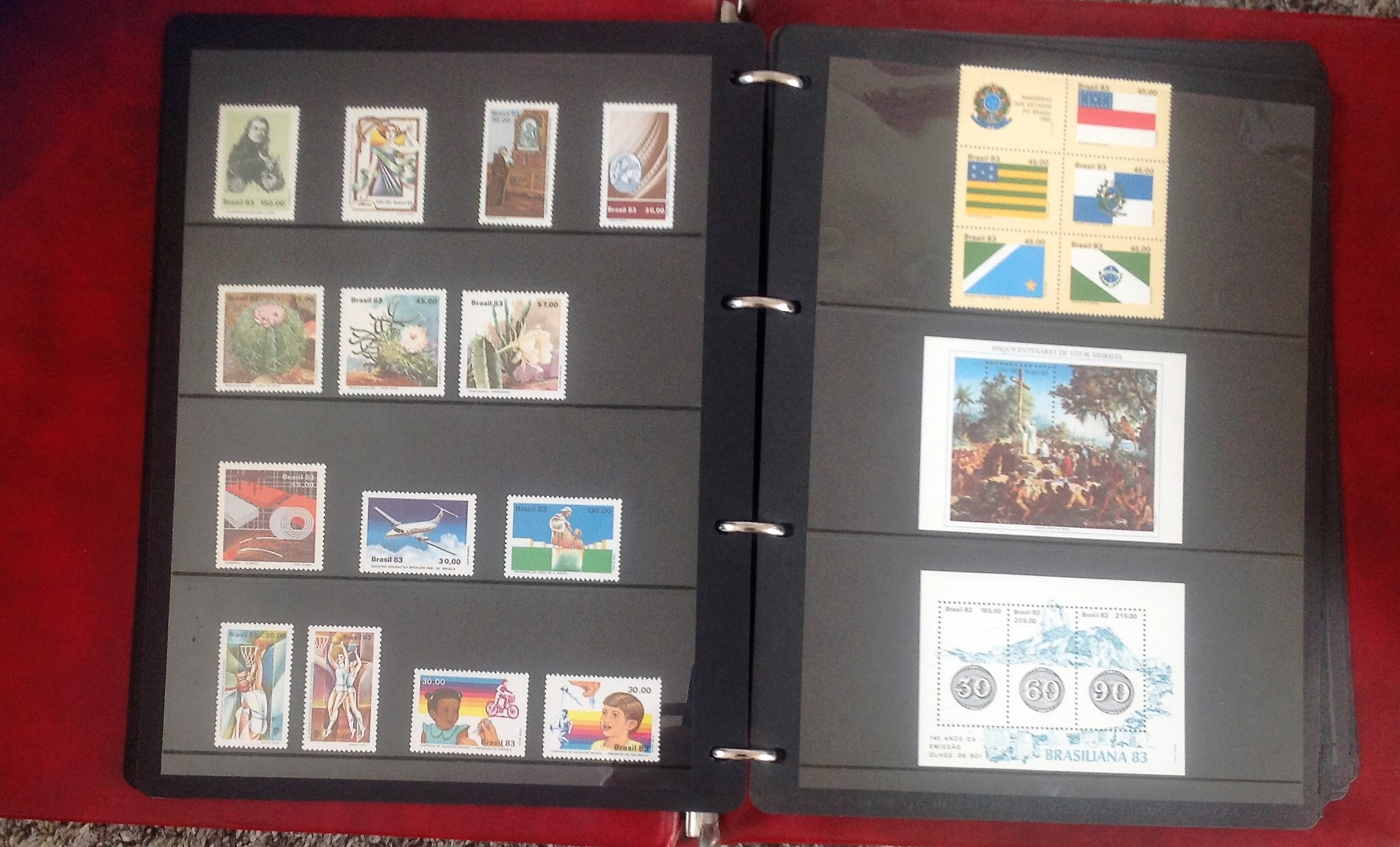 Lot 43 - Brazil stamp collection in album. 1981-1985. Mainly unmounted mint. Cat value nearly £300. Good