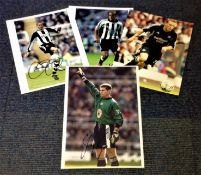 Football Newcastle United Collection 4 signed colour photos from Shay Given, Craig Bellamy, Kieron