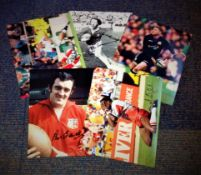 Rugby Collection 5 signed photos from some legendary names such as Phil Bennett, JPR Williams,