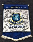 Football Everton legends signed pennant over 20 fantastic Goodison Park greats signatures includes