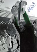Football Phil Parkes signed 14x10 colourised photo pictured with the FA Cup after West Ham winning