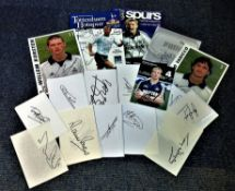 Football Tottenham Hotspur collection includes signed programmes, promo cards and white cards